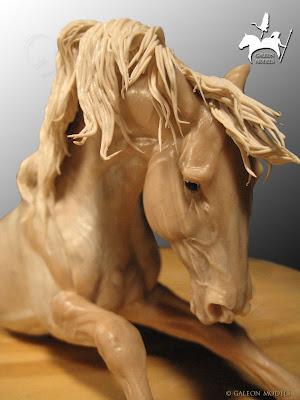 Taller de MODELADO Y ESCULTURA… Cabeza de caballo para una fuente ...