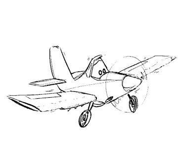 #7 Disney's Planes Coloring Page