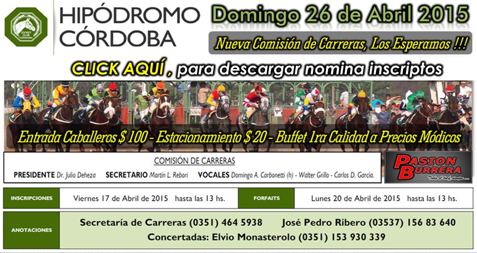 HIPODROMO CORDOBA - 26 DE ABRIL