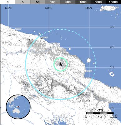 Epicentro sismo 6,2 grados Papúa Nueva Guinea, 20 de Agosto 2012