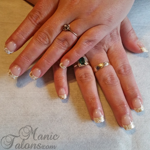 Sculpted Gel Nails with Cici&Sisi Stamped Tips