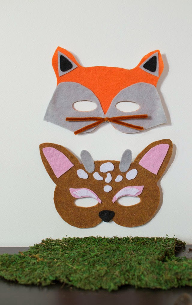 http://www.homeologymodernvintage.com/little-woodland-creatures-face-masks/