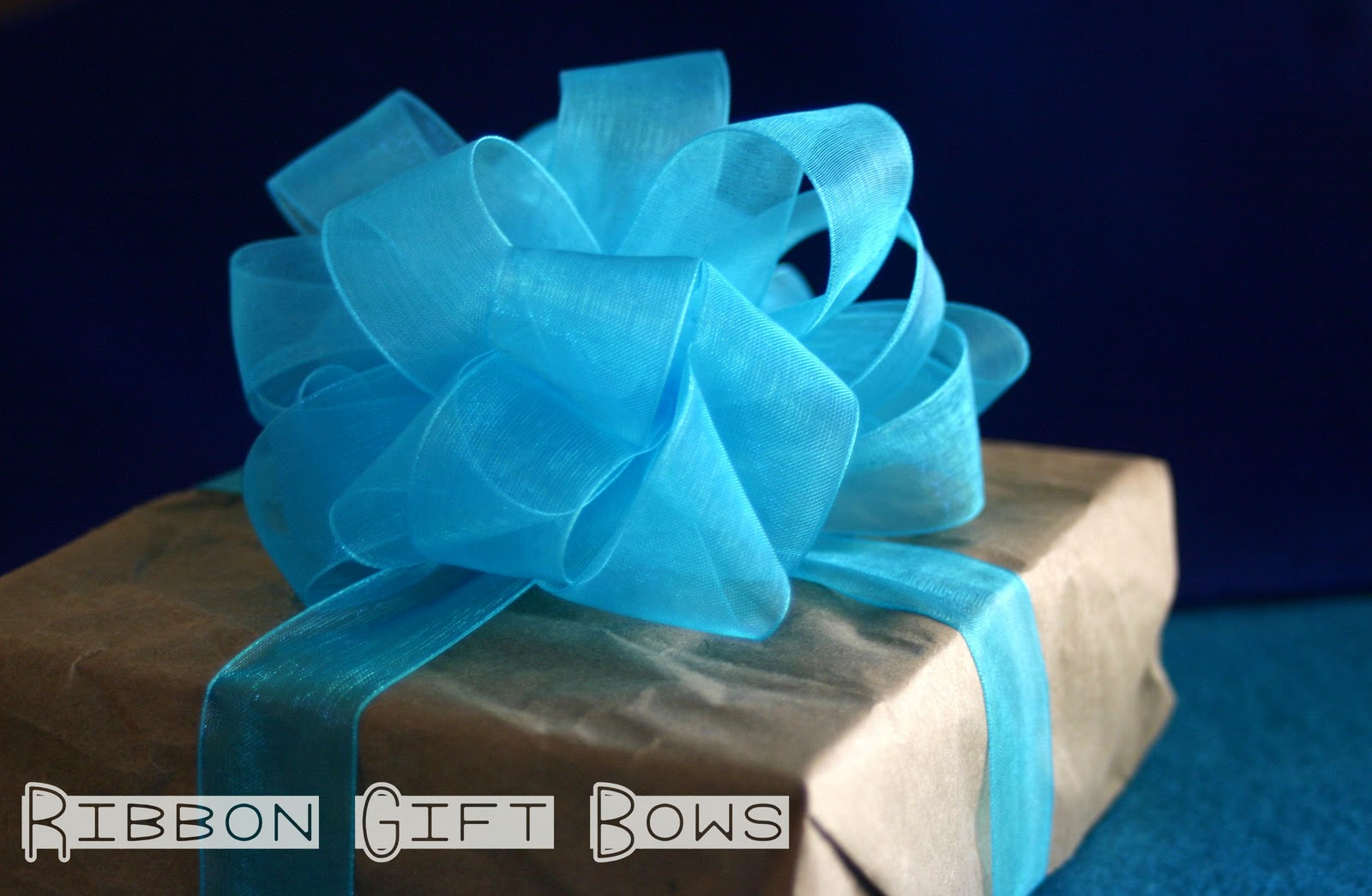 Ribbon Gift Bows Lines Across