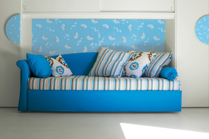 Living Room Interior Design Idea With Vibrant Sofa Bed by Milano ...
