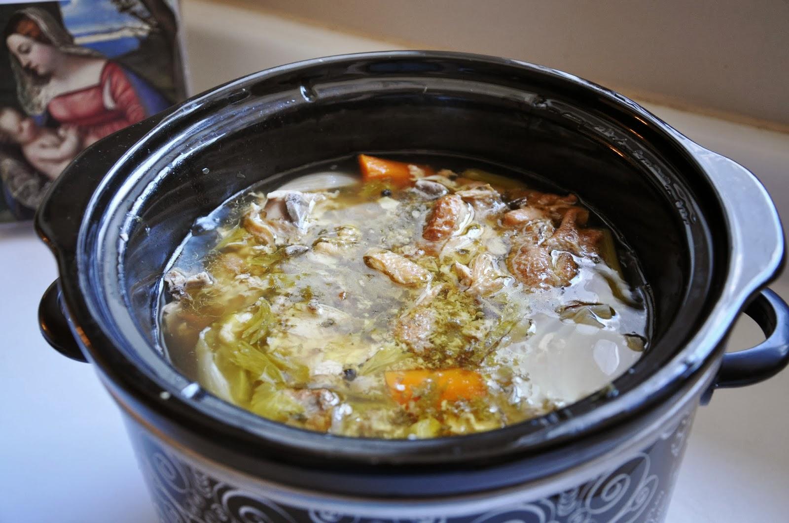 Waltzing Matilda: Slow Cooker Chicken Broth