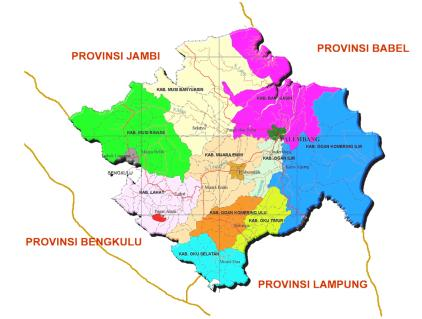 nama kabupaten kota di provinsi sumatera selatan negeri pesona