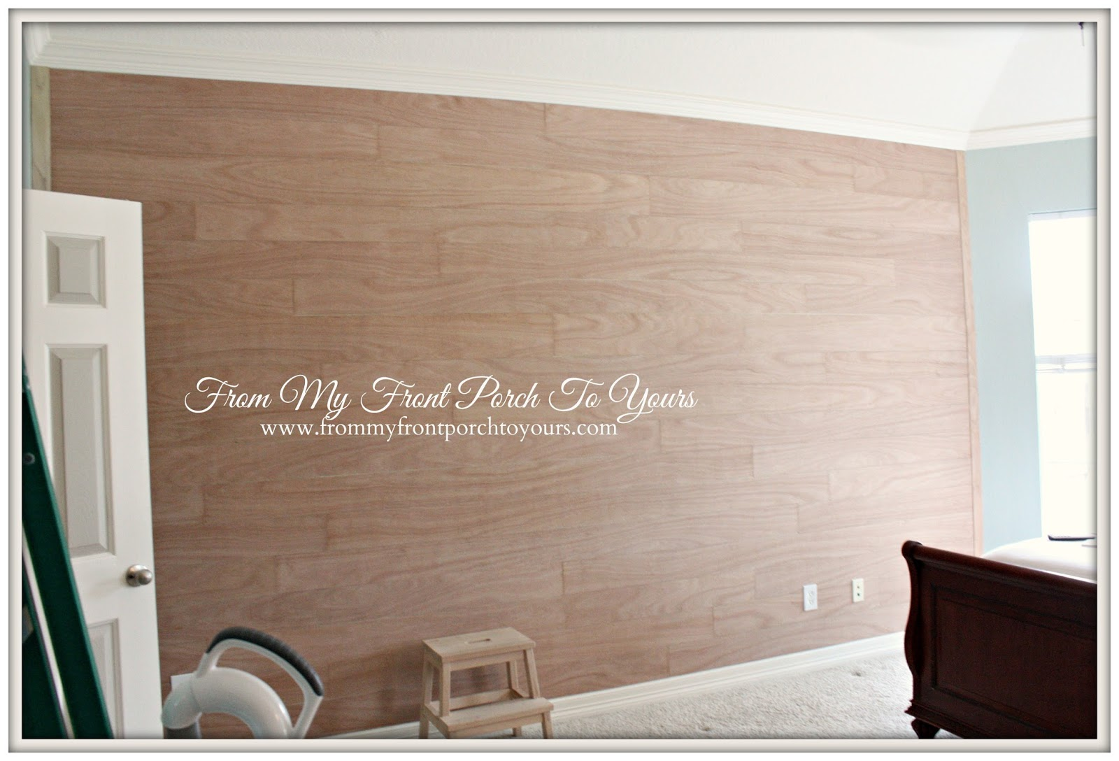 From My Front Porch To Yours- Planked Wall