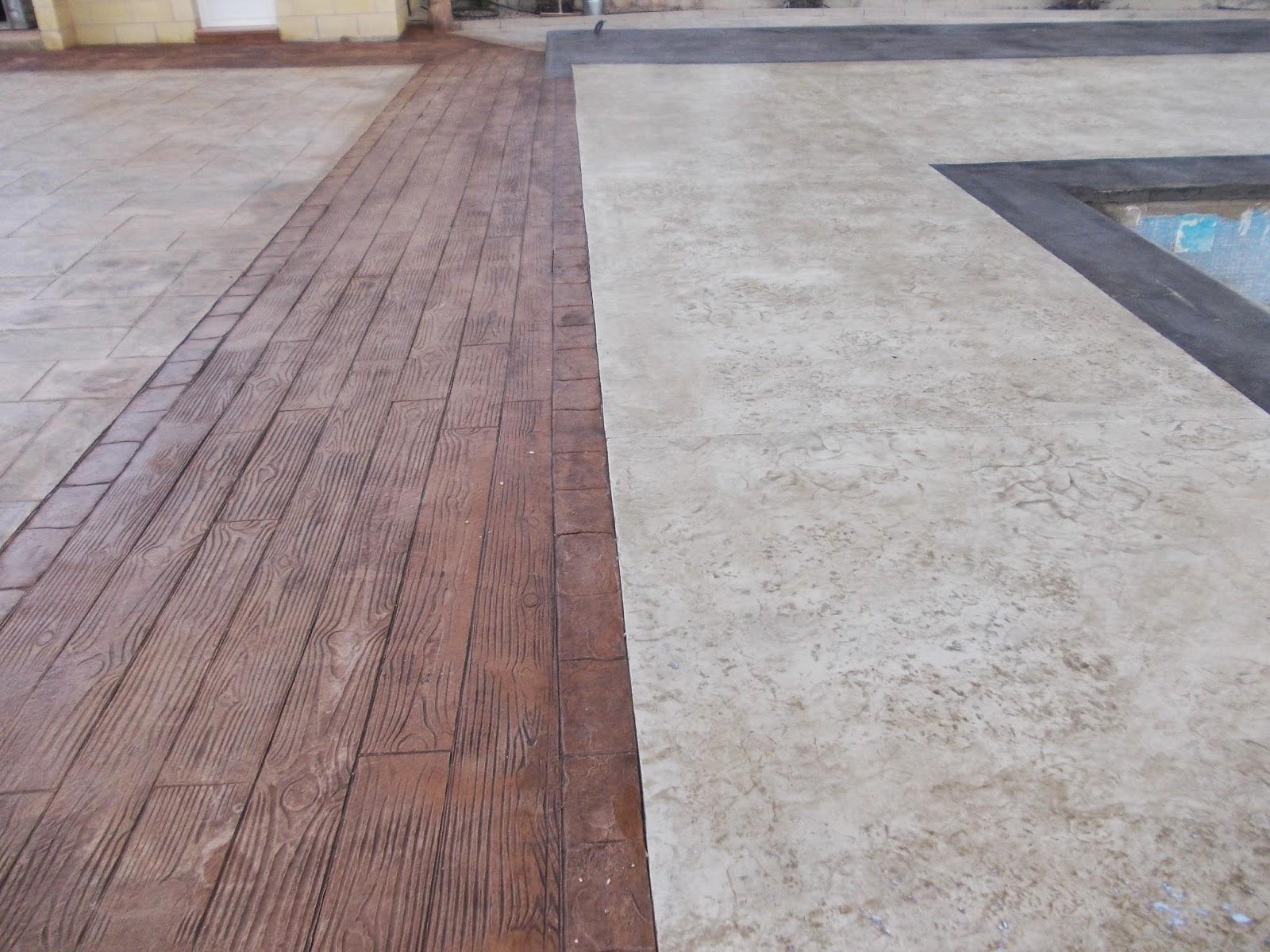 Piedra coronaci n de piscina con hormig n impreso for Hormigon para pavimentos