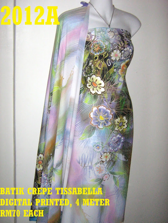 CTD 2012A: BATIK CREPE TISSABELLA DIGITAL PRINTED, EXCLUSIVE DESIGN, 4 METER