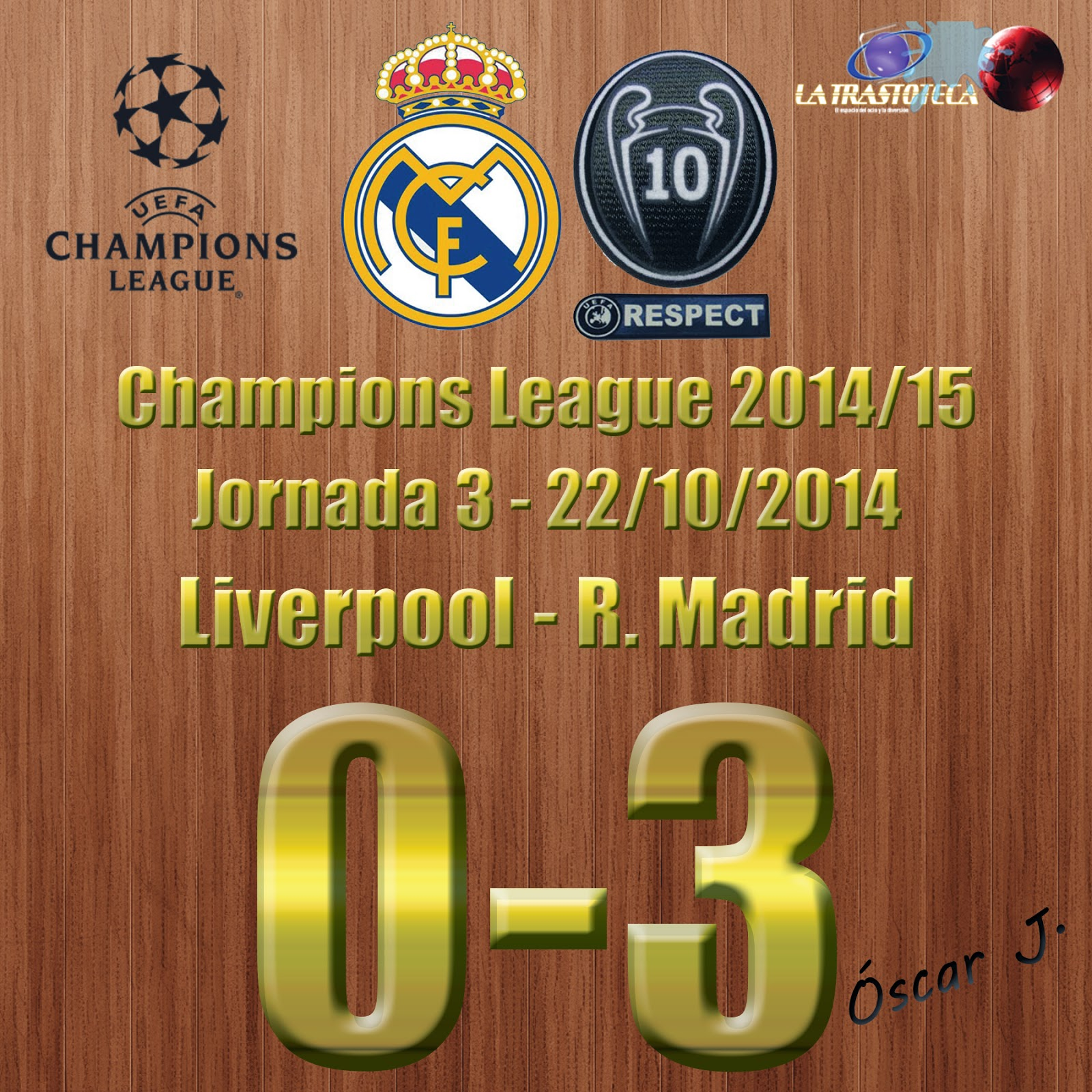Cristiano Ronaldo - (0-1) - Liverpool 0-3 Real Madrid - Champions League 2014/15 - (22/10/2014)
