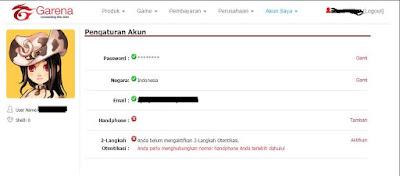 Cara Mengganti Password Point Blank/PB Garena