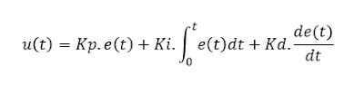 Equação Sistema de controle PID