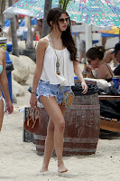 Selena Gomez  hot in short denim shorts