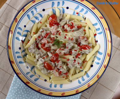 Carole's Chatter - Burger & Blue Cheese Pasta