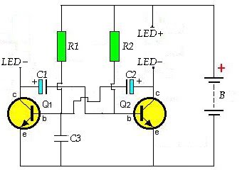Diagram to make decorating light
