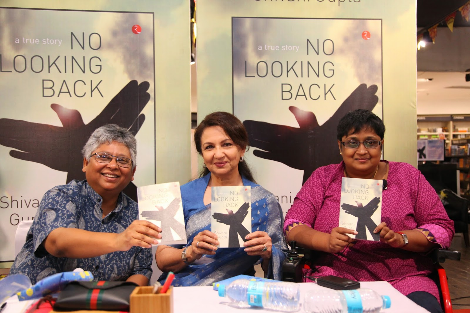 (L to R) Shohini Ghosh, Sharmila Tagore, Shivani Gupta