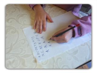 ecriture gaucher sans dysgraphie