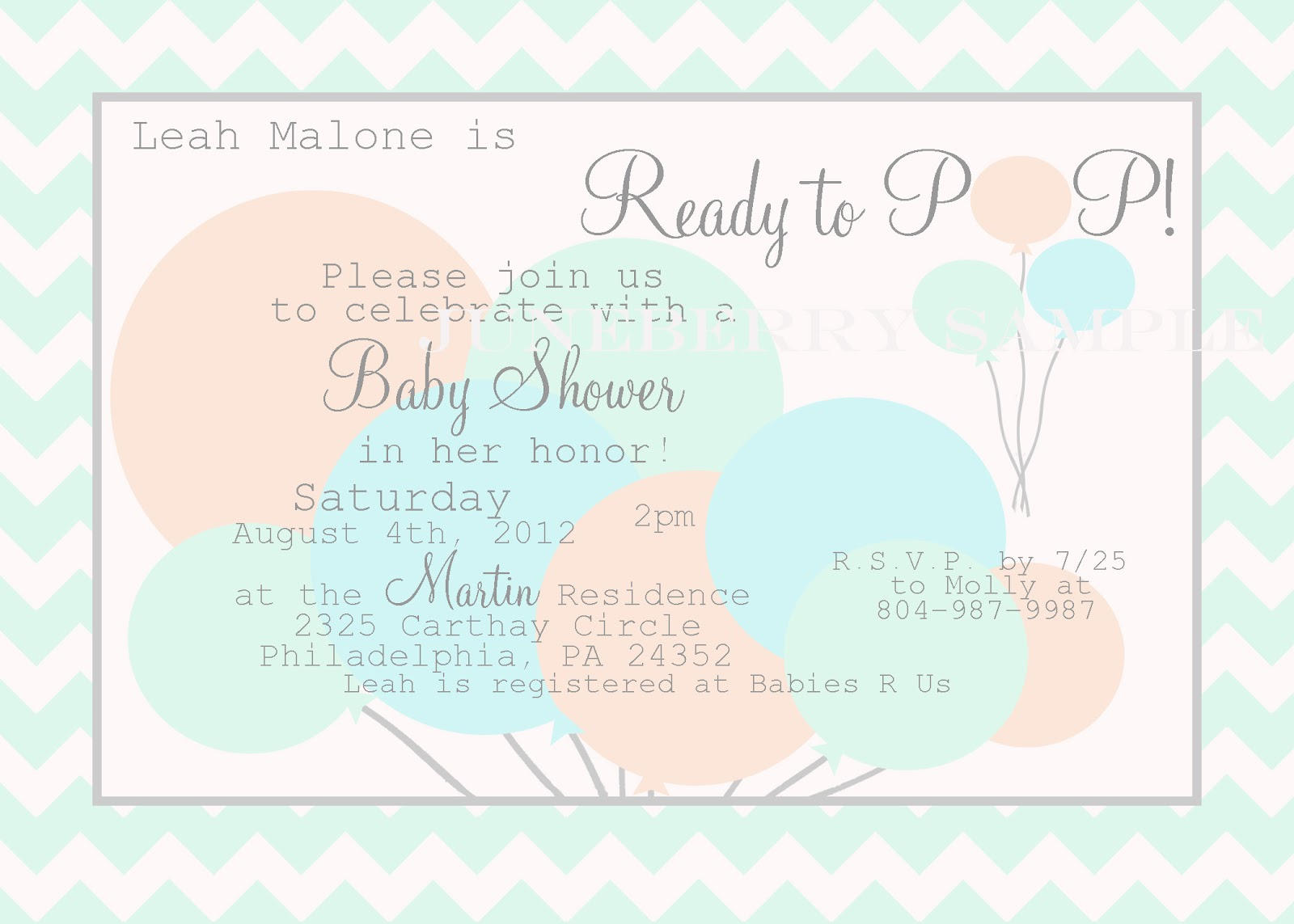 Juneberry Lane: A New Line of Invitations: READY TO POP!!!