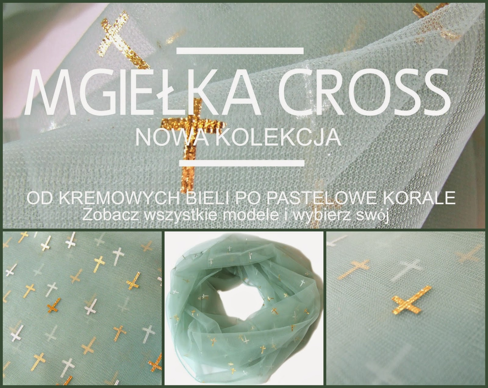 Szale komin jak z tiulu - kolekcja Mgiełka CROSS by Bella Sisi