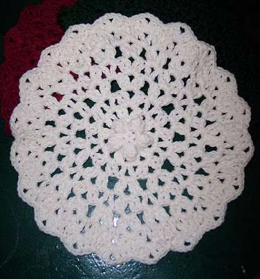 Bumps and Chains Dish Cloth Free Crochet Pattern