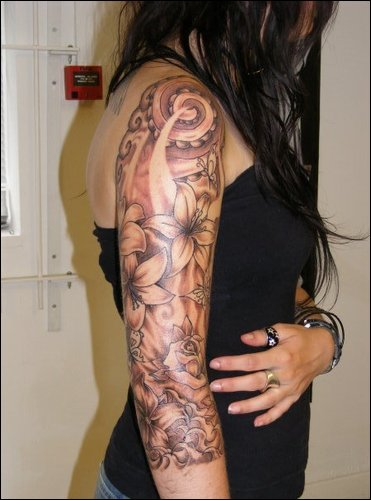 Tattoo gallery half sleeve tattoos for girls for Beautiful half sleeve tattoos