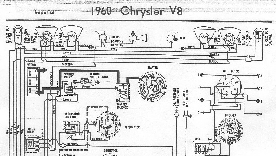 Free Auto Wiring Diagram  1960 Chrysler V8 Imperial Wiring