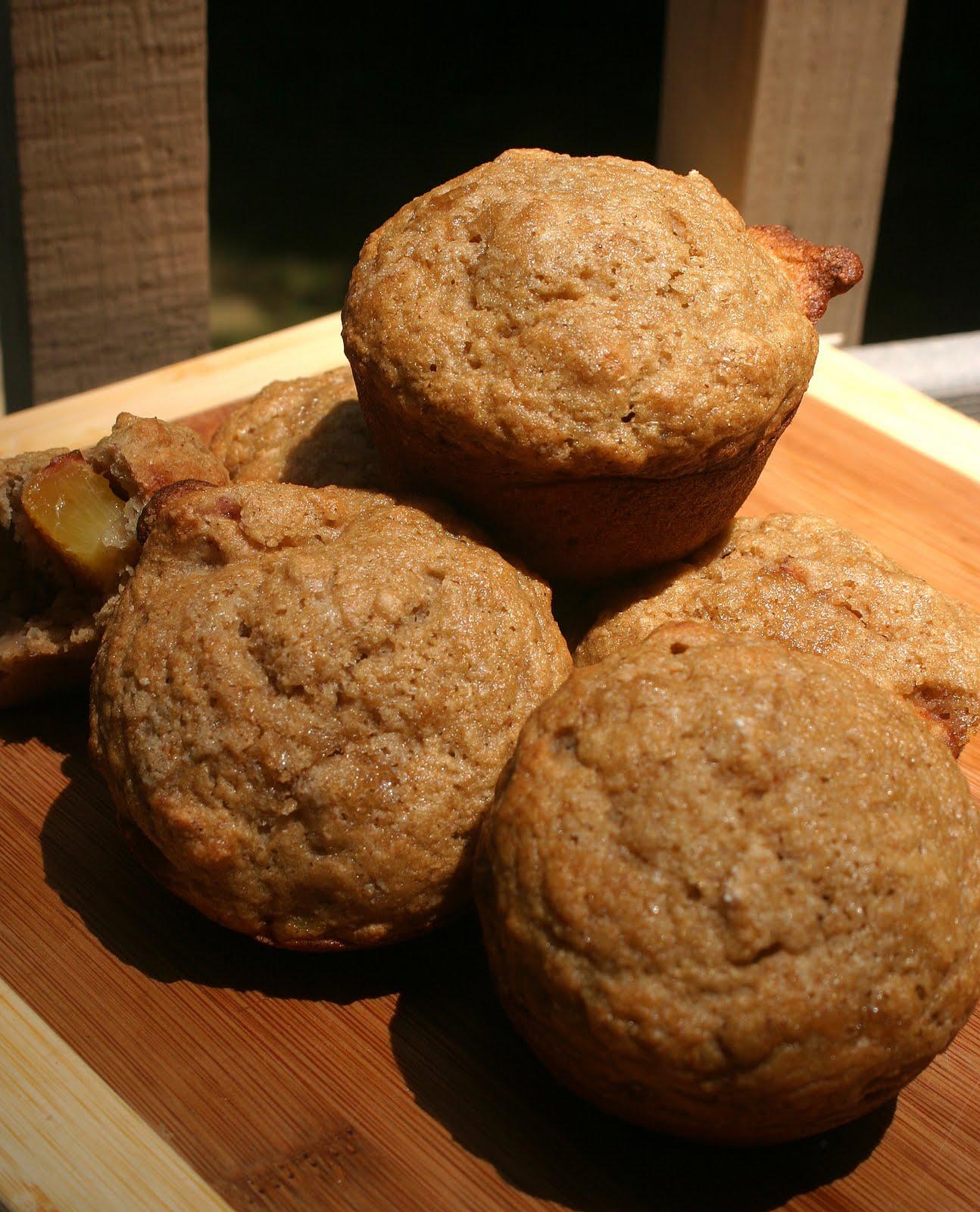 banana peach spice muffins