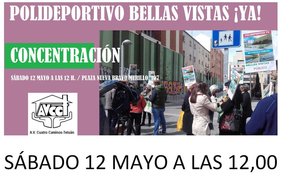 12 mayo Nueva Concentración en Tetuán Bellas Vistas