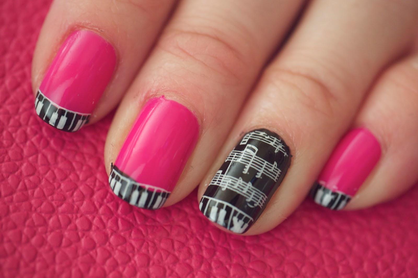 Glitterm You Nailed It Pink Piano M73 Konad