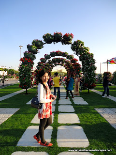Happy Lady at Dubai Miracle Garden