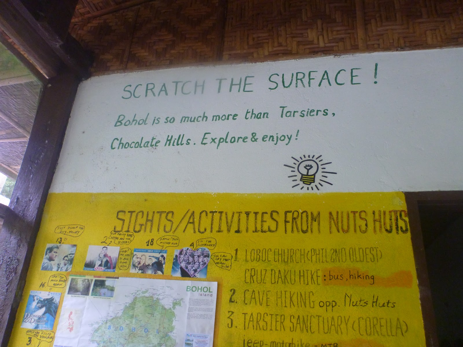 Nuts Huts' Big Note in their Lobby, Restaurant