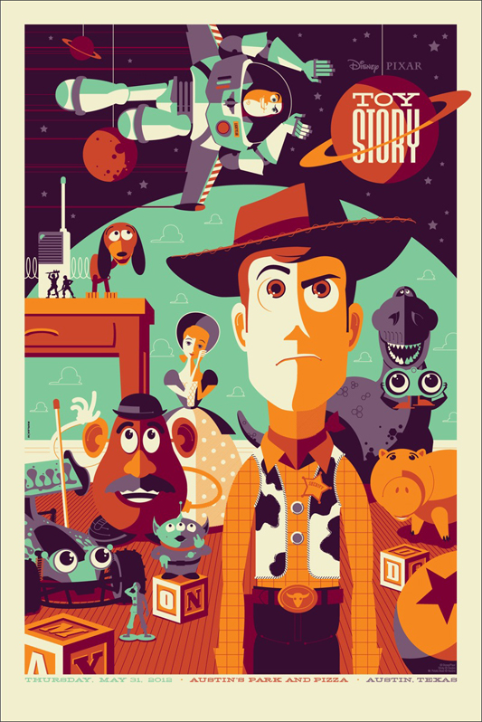 updated mondo toy story poster by tom whalen pixar post