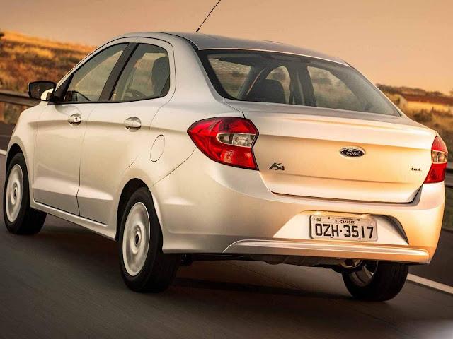 Novo Ford Ka+ 2016 - traseira / preço