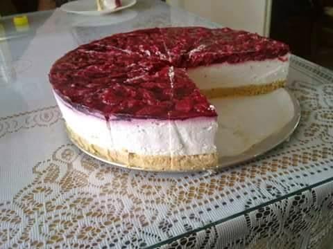 Voćna torta sa sirom - Cheesecake-čizkejk