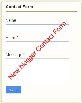 Contact Us Form In Blogger