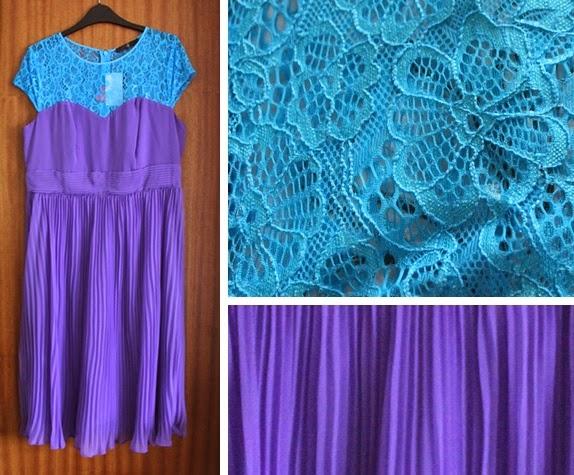 fearne cotton blue purple lace dress