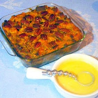 Michael Symon's Pumpkin Chocolate Bread Pudding with Whiskey Sauce 11.16.11