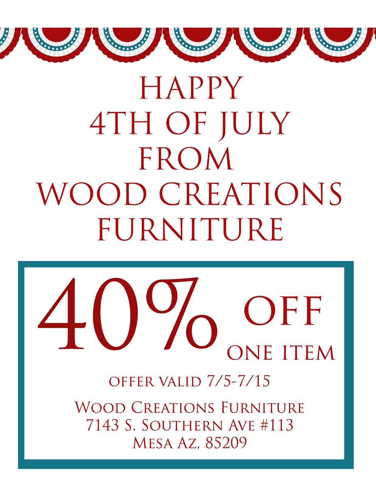 Wood Creations Furniture: July 2011