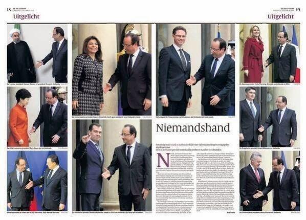 فيديو مضحك : الرئيس الفرنسي و مشكلته مع مصافحة الرؤساء
