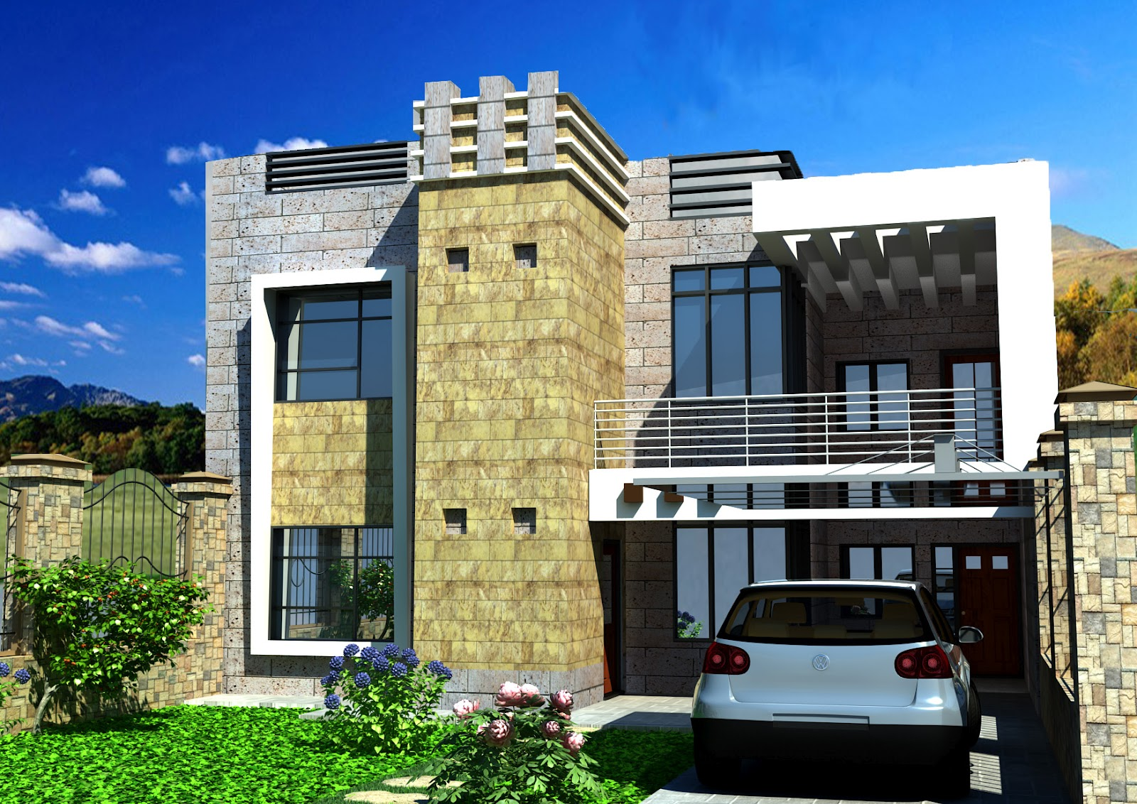 Summer Fouad Egyptian Architect modern design of simple building