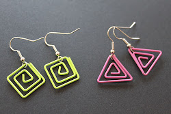 Paper Clip Earrings for Sale!