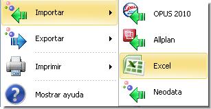 Opus Planet 001 importar obra (catalogo de conceptos) de Excel a Opus Planet