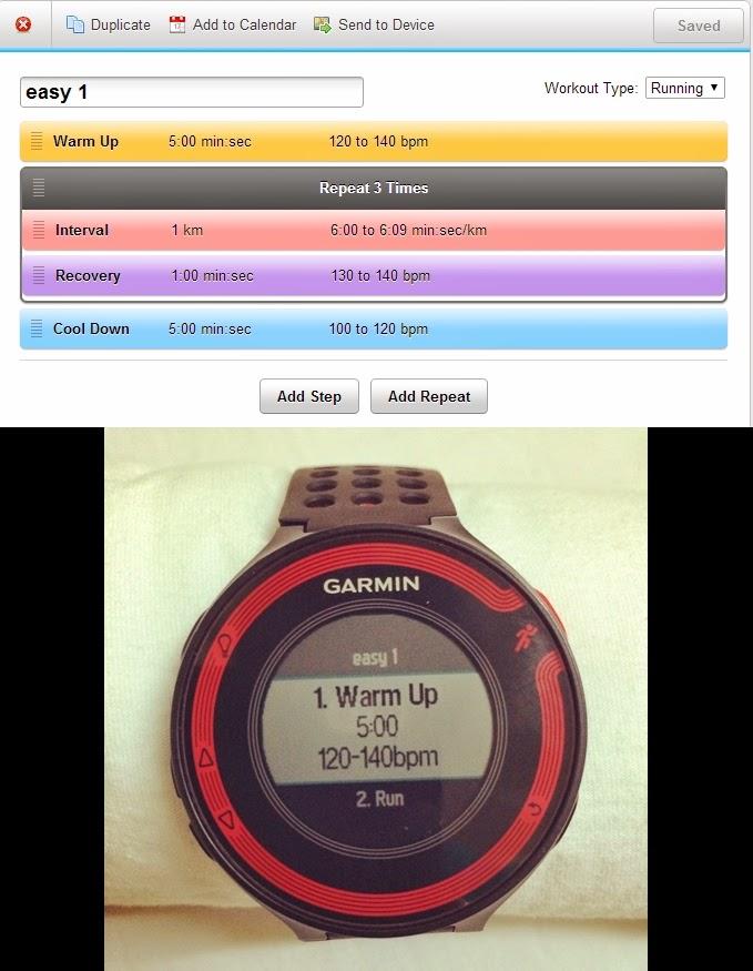 import workout เข้านาฬิกาได้ จึงฝึกซ้อม interval ได้ทุกรูปแบบ