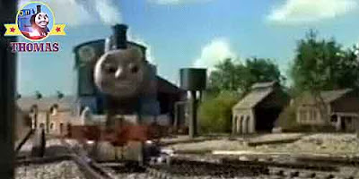 Blue Thomas the train and The Big Bang Thomas the tank engine is a fun cheeky little steam engine