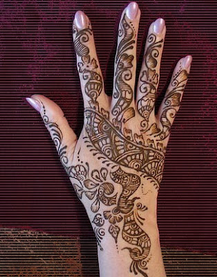 mehndi simple design for hand