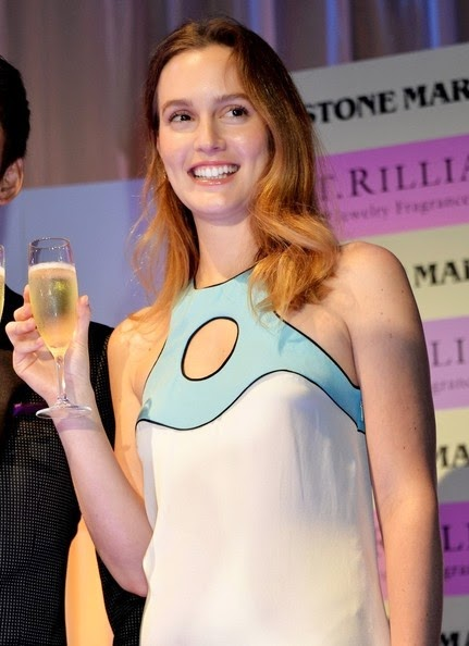 Leighton Meester looked the picture of sophistication by stingy garment as she attended the event to promote the Jewellery product, St. Rillian at Tokyo on Thursday, September 25, 2014.