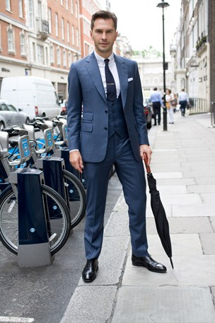street style london collections men menswear royal blue suit