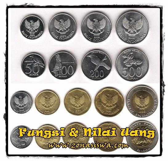 Fungsi dan Nilai Uang | www.zonasiswa.com