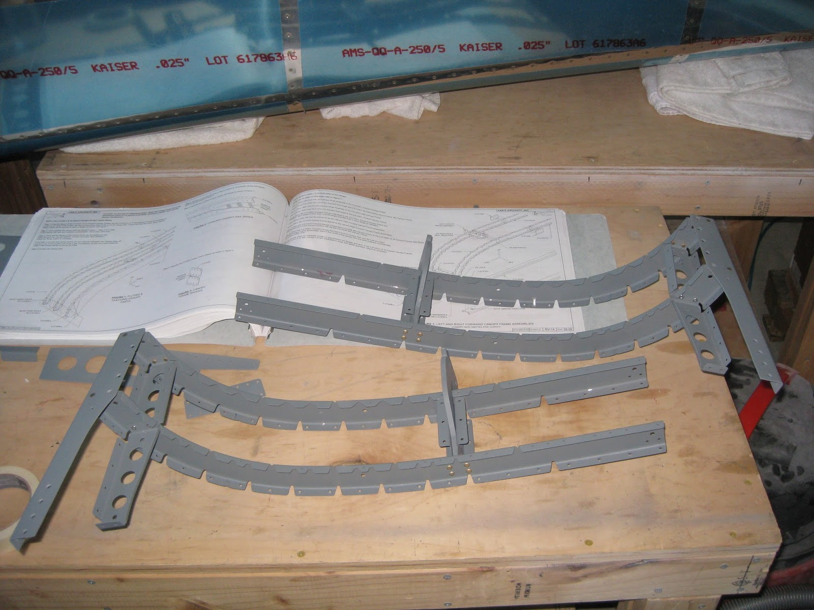 most of the rivets in the assemblies can be squeezed however the rivets attaching the canopy hinge assemblies to the canopy frames were bucked left