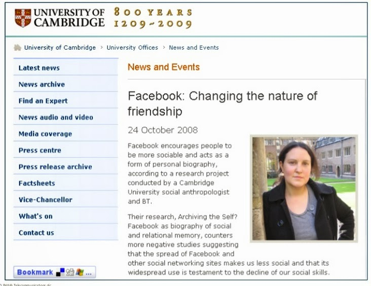 Archiving the self? Facebook as a biography of social and relational memory